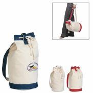 "Drawstring Cotton Tote Bag - 15"" x 19"""