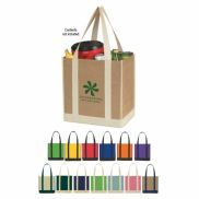 """Two Tone Recycled Tote Bag - 12"""" x 13"""""""