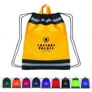"Reflective Carrying Handle Cinch Bag - 17"" x 20"""