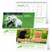 Puppies & Kittens Desk Calendar