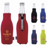 Koozie Zip-Up Bottle Cooler with Opener