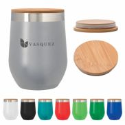 12 Oz. Vinay Stemless Wine Glass With Bamboo Lid