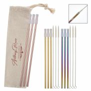 3 Pack Park Avenue Stainless Straw Kit w/ Cotton Pouch