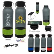 Carter Tritan Bottle with Wireless Charger & Power Bank - 23 oz.