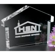 House Paperweight Anniversary Award - 4 in.