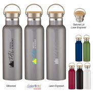 Liberty Stainless Steel Bottle w/ Wood Lid - 21 oz.