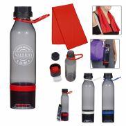 Energy Sports Bottle w/ Phone Holder & Cooling Towel - 15 oz.
