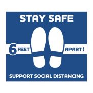 """Social Distancing Stay Safe Floor Decal - 12"""" x 14"""""""