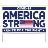 COVID-19 America Strong Sign
