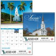 Scenic Churches Spiral Calendar