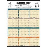 Time Management Span-A-Year Calendar (Laminated w/ Marker)