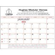 Red & Black Desk Pad Calendar