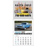 Full Color Stick Up, Memorable Muscle Grid Calendar
