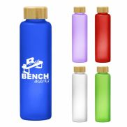 Belle Glass Bottle with Bamboo Lid - 20 oz.