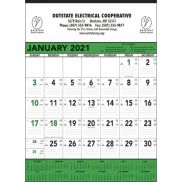 Green & Black Contractor's Memo Calendar