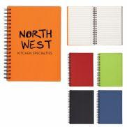 "5"" x 7"" Rubbery Spiral Notebook"