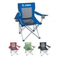Mesh Folding Promotional Chair With Carrying Bag