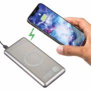 UL Listed Light Up Qi Wireless 10000 Power Bank