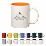 Colored Stoneware Mug w/ C Handle - 11 oz.