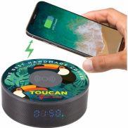 Bluetooth Speaker Clock w/ Wireless Charging