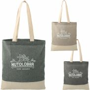 Split Recycled 5 oz. Cotton Twill Convention Tote