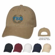 100% Brushed Washed Cotton Twill Cap