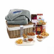 Gourmet Delights Keepsake Basket with Serenity Throw