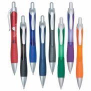 Rio Ball Point Pen With Contoured Rubber Grip
