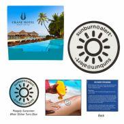 Sunburn Alert UV Color-Changing Sticker w/ Custom Packaging