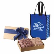 Executive Gift Set with Snow Flurry Laminated Tote Bag