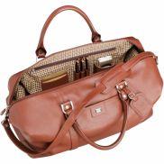 "Cutter & Buck 19"" Leather Weekender Duffel Bag"