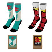 """18"""" Dye Sublimated Socks with Trifold Packaging"""