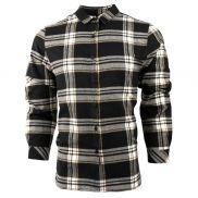 Burnside Women's Yarn-Dyed Long Sleeve Plaid Flannel Shirt