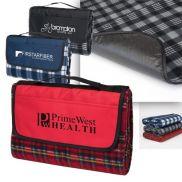 Playful Plaid Promotional Picnic Blanket