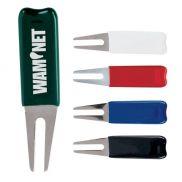 Metal Bent Fork Divot Repair Tool Rubber Coated
