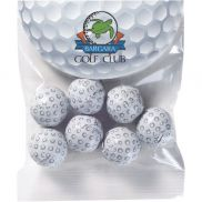 Circular Top Snack Bag with Chocolate Golf Balls