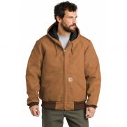 Carhartt Tall Quilted-Flannel-Lined Duck Active Jacket