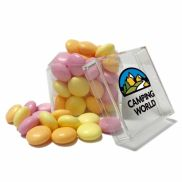 Cube Shaped Acrylic Container with Candy