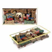 Dog Bone Treats in Gold Rimmed Box