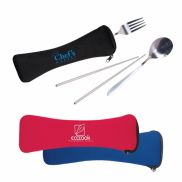 Travel Cutlery Set in Zip Pouch
