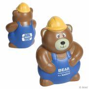 Construction Worker Bear Stress Reliever