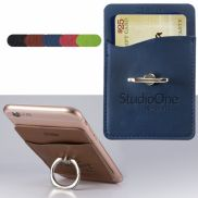 Tuscany™ Card Holder with Metal Ring Phone Stand