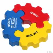 3 Piece Gear Puzzle Set Stress Reliever
