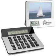 3-in-1 Calculator/Picture Frame/ LCD Digital Clock
