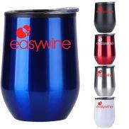 Stainless Wine Tumbler w/ Plastic Liner - 12 oz.