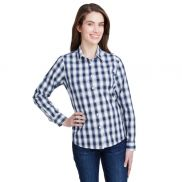 Artisan Collection by Reprime Women's Mulligan Check Long-Sleeve Cotton Shirt
