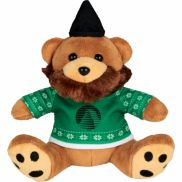 """6"""" Ugly Sweater Hipster Plush Bear"""