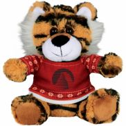 """6"""" Ugly Sweater Plush Tiger"""