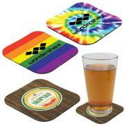 "Full Color Rubber Coaster - 4-1/4"""