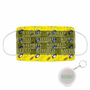 Microfiber Reusable Face Mask with Keychain Case